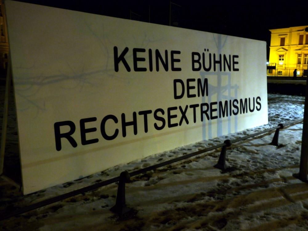 Plakatwand in Cottbus