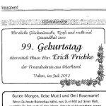 Anzeige für Erich Priebke